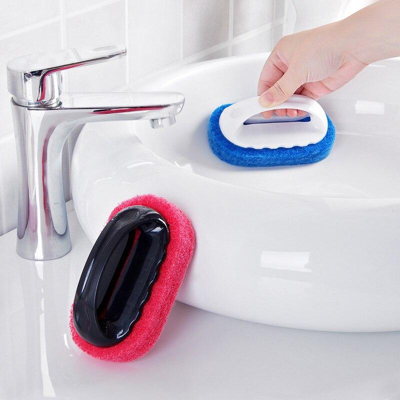 1pc magic sponge eraser bath brush tiles brush wash pot clean brush sponge bathroom accessories kitchen cleaning brush