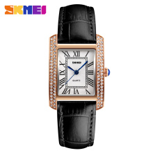 SKMEI Brand Watch Women Watches Retro Relogio Feminino Leather Strap Waterproof Fashion Casual Ladies Quartz Wristwatches 1281