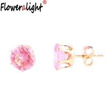 9024857fe511 Simple rosa púrpura rojo amarillo cuadrado corazón triángulo redondo  cristal pendientes para mujeres regalos joyería pendiente P..
