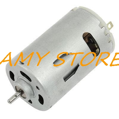555 12V DC 6000RPM 2 Pin Connector 36mm Dia. Mini Motor Replacement