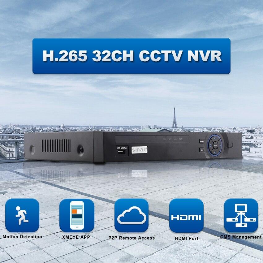 Smar FULL HD 32 Channel 1080P CCTV NVR 25CH 5MP 8CH 4K Network Video Recorder ONVIF P2P HDMI VGA Surveillance Support 3G WIFI