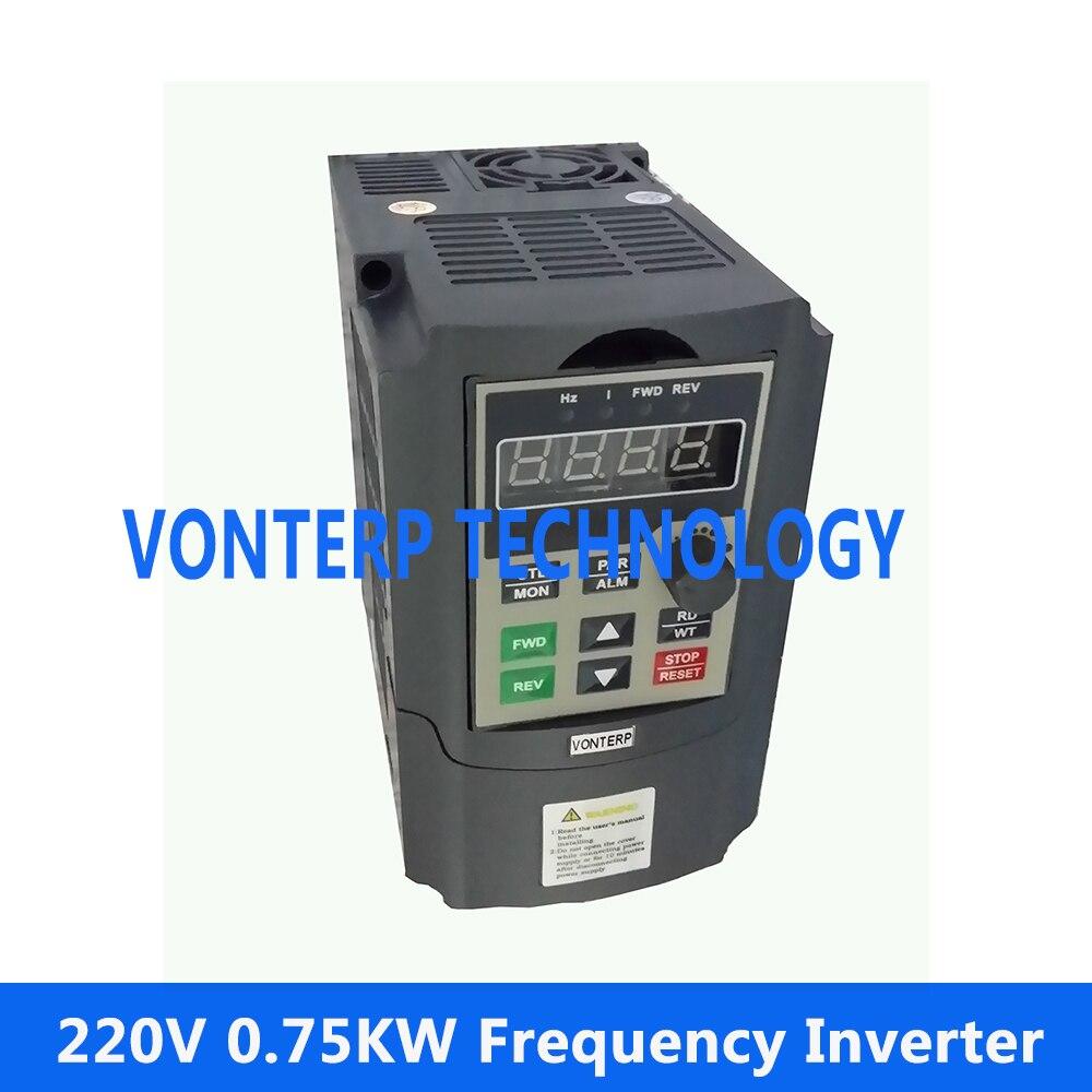 цена на VTP5M-0R7-G1 220v 0.75KW 4A single phase input and 220v 3 phase output motor speed controller