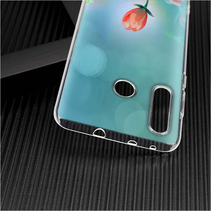 Transparent Silicone Phone Case gold glitter black for Huawei Nova 4 P Smart P30 Y5 Y6 Y7 Y9 Pro Lite 2019 2018 2017 in Fitted Cases from Cellphones Telecommunications
