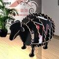Escandinavo criativo sheep animal em forma de prateleira estante de madeira exclusivo decorações casa ornamentos, restaurante do hotel bar decoração