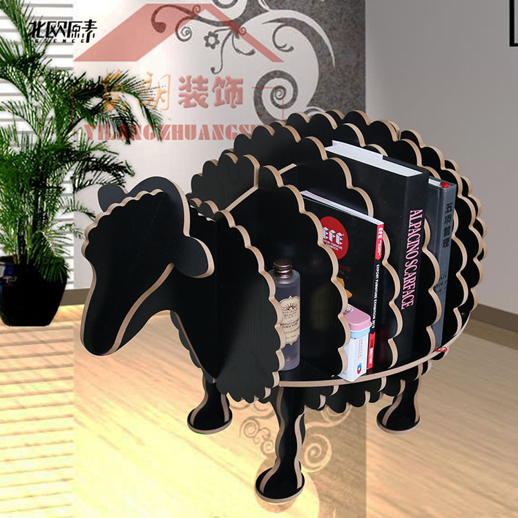 Scandinavian Creative Sheep Animal Shaped Wooden Shelf Bookshelf Exclusive  Home Decorations Ornaments,hotel Restaurant Bar Decor