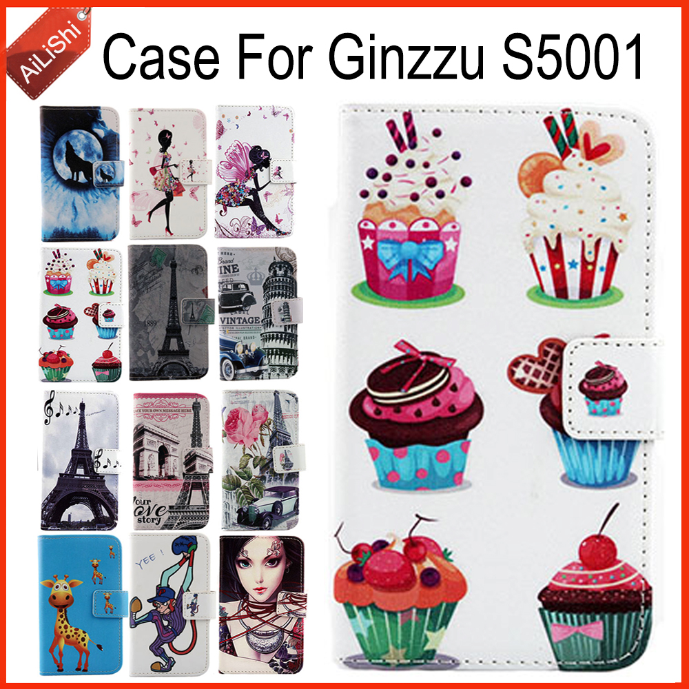 AiLiShi Hot!! Case For Ginzzu S5001 Book Flip Luxury Leather Case New Exclusive 100% Special Phone Cover Skin+Tracking In Stock