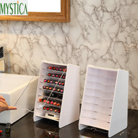 Multi layer Makeup Storage Box Plastic Desktop Cosmetic Brush Organizer Holder Lipstick Nail Polish Case Home Display Stand Rack