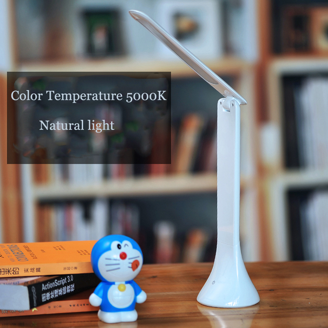 New Portable USB Re-Chargable Desk Lamp Night/ Reading/Study/Laptop/Table Light  White Color