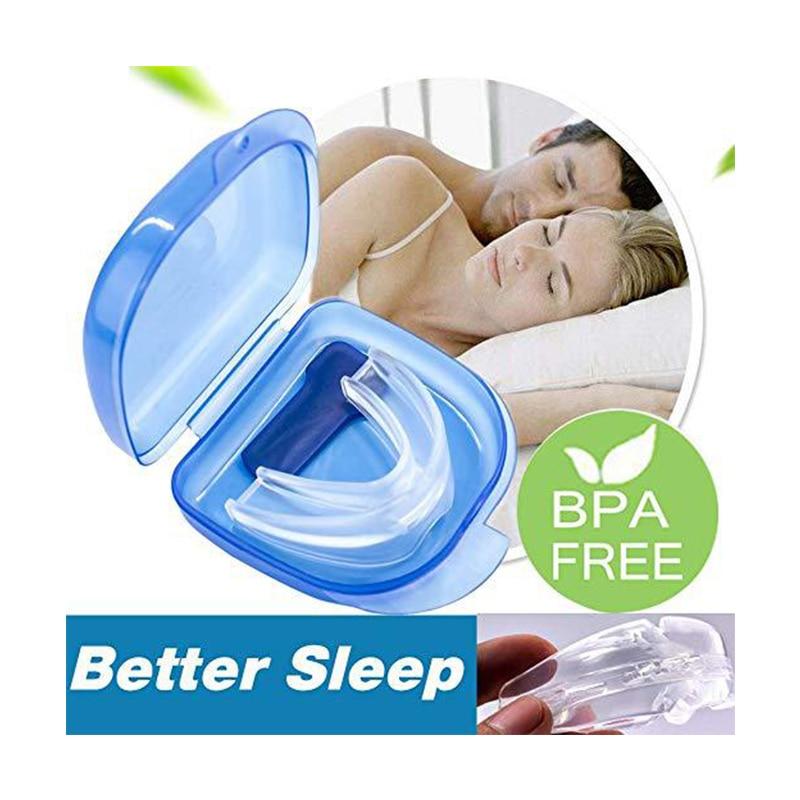 Anti-snoring Mouthpiece Anti Snore Device Braces Apnea Guard Bruxism Tray Sleeping Aid Mouthguard Health Care Sleep Snoring