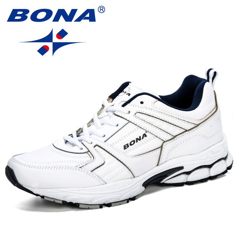 BONA 2019 New Designer Chaussure Homme Outdoor Men Running Shoes Leather Sneakers Men Sport Shoes Walking Jogging Trainer ManBONA 2019 New Designer Chaussure Homme Outdoor Men Running Shoes Leather Sneakers Men Sport Shoes Walking Jogging Trainer Man