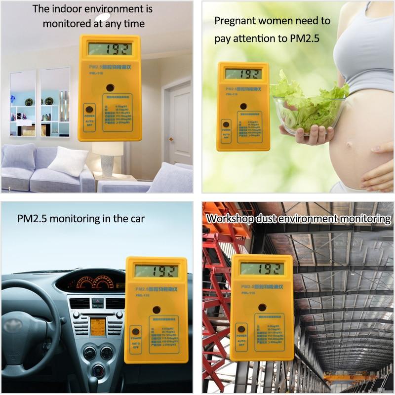 PM2.5 detektoriaus oro kokybės stebėjimo priemonė Dalelių dulkių - Matavimo prietaisai - Nuotrauka 4