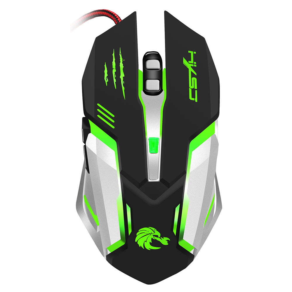 HXSJ Glowing Mouse USB Wired Professional Gaming Mouse Ergonomic Design Optical Mechanical Mouse Game with 7 Colors LED Backlit-in Mice from Computer & Office