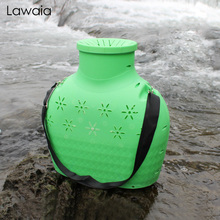 Lawaia Fishing Bag Backpack Portable Plastic Woven Resistance To Wear High Capacity For Fish Gear Waterproof