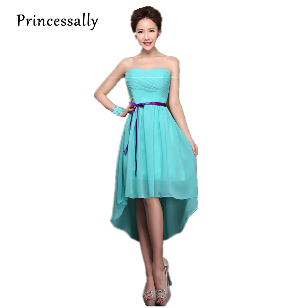 Teal bridesmaid dresses chiffon turquoise blue dress for for Teal dress for wedding