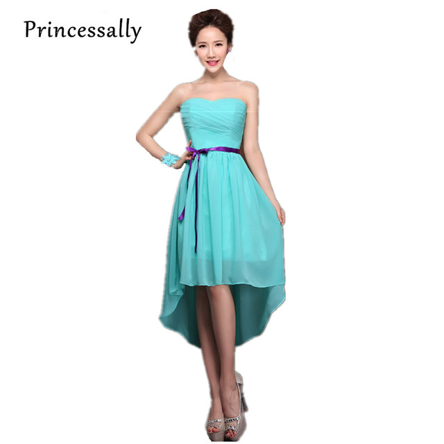 Teal Bridesmaid Dresses Chiffon Turquoise Blue Dress For Weddings Sweetheart Under