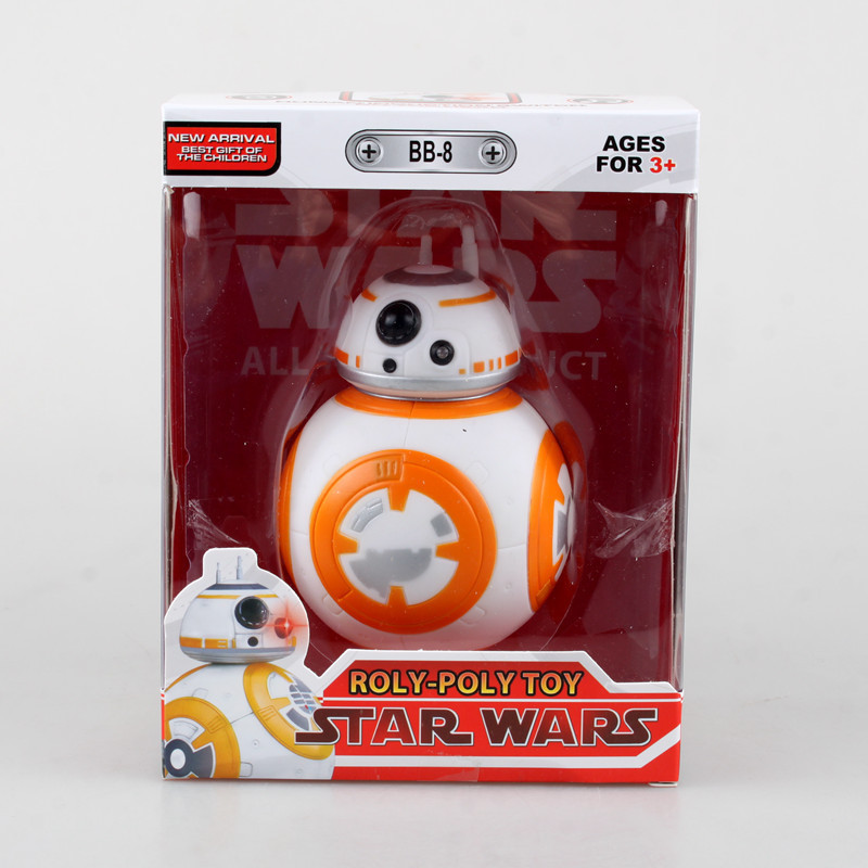 Star Wars  The Force Awakens BB 8 with Light and Sound BB-8 PVC Action Figure Collectible Model Toy 11cm KT1777 dinosaur transformation plastic robot car action figure fighting vehicle with sound and led light toy model gifts for boy