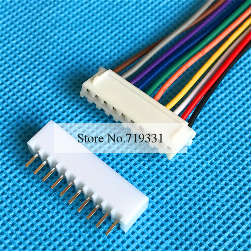 Mini Micro XH 2.54mm 10-Pin Connector plug with Wires Cables x 10 ...