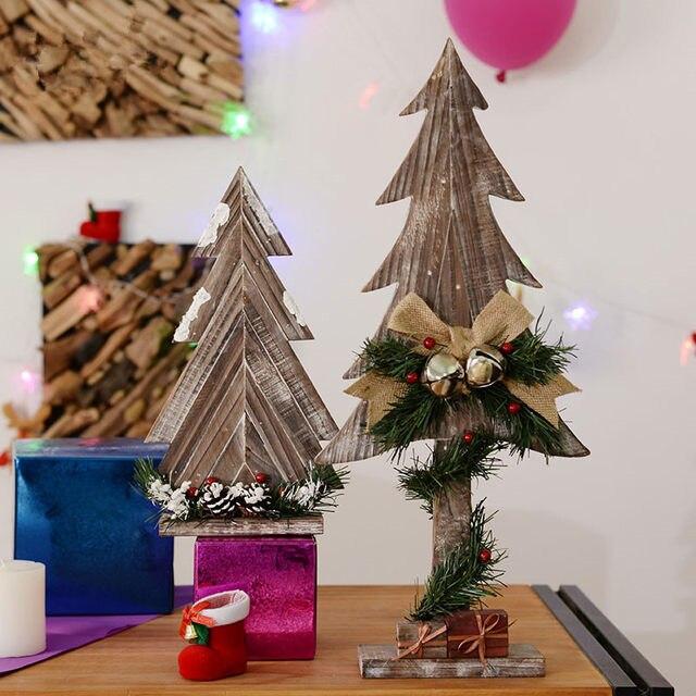 Handmade Wood Christmas Tree Eco Friendly Natural Home Shop Holiday Decor Creative Gift