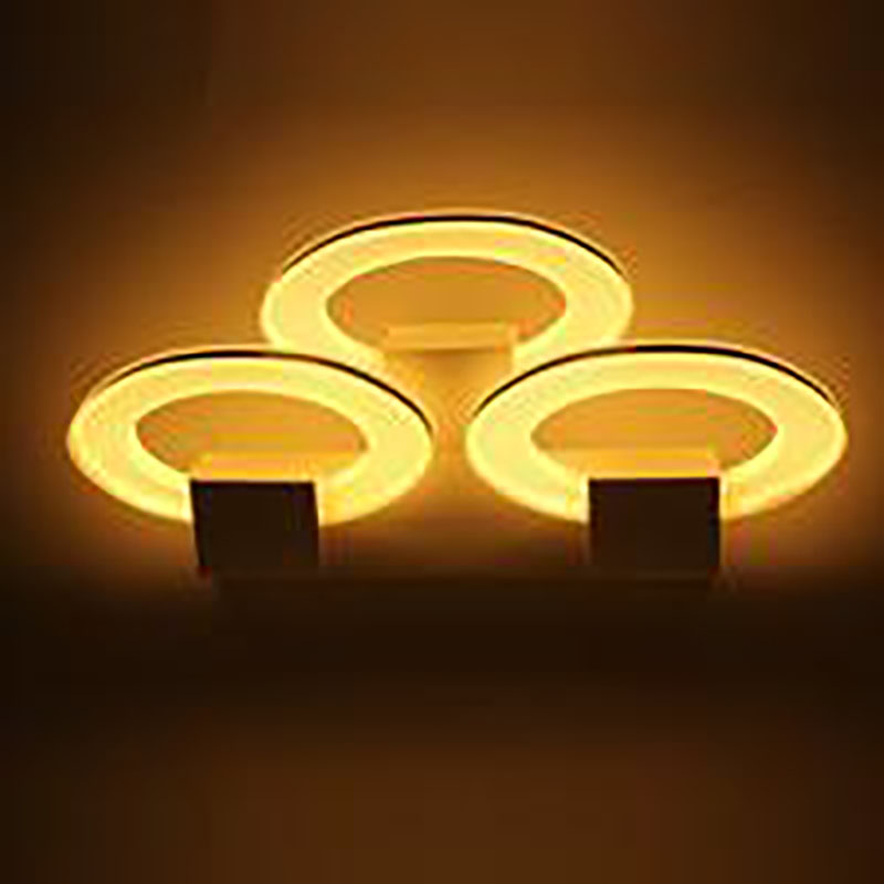 20W triple oval ellipse shape LED wall lamp bedside lamp modern living room corridor hallway stairs Pathway Sconce Lighting 12w conch shape led wall lamp bedside lamp modern living room corridor hallway stairs lights pathway sconce lighting