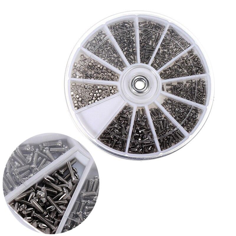 Nouveau 12 sortes de 600 Pcs petit acier inoxydable vis noix montre & outils ménagers électronique classification kit M1 M1.2 M1.4 M1.6