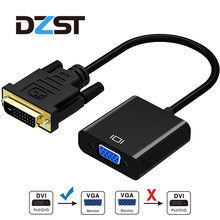 Dzlst DVI TO VGA Female Video Converter Adaptor DVI 24 + 1 25 Pin DVI-D untuk VGA Adaptor Kabel untuk TV PS3 PS4 Layar PC 1080 P(China)