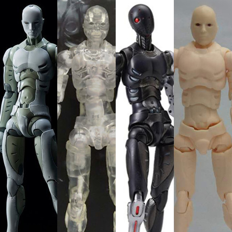 1/12 Synthetic Human Male Body Action Figure PVC Model Toys For Drawing Sketch Collectible Model Toy with box