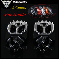 RiderJacky Motorcycle CNC Aluminum Footrests Footpegs Foot Pegs Foot Rests For Honda CR125/250 2002 2007 2003 2004 2005 2006