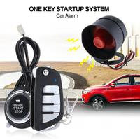Universal Cars Alarm System Remote Start Stop Engine System with Auto Central Lock and Keyless Entry 5A with Key