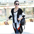 New fashion Spring women's sweater V-neck knitted ladies' Cardigan contrast color open stich sweater knitwear sweater