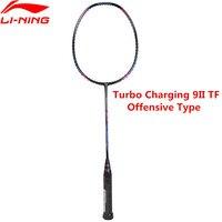 Genuine Li Ning Turbo Charging 9II Professional Badminton Racket Li Ning Sports Offensive Racquet AYPM324 L848OLA