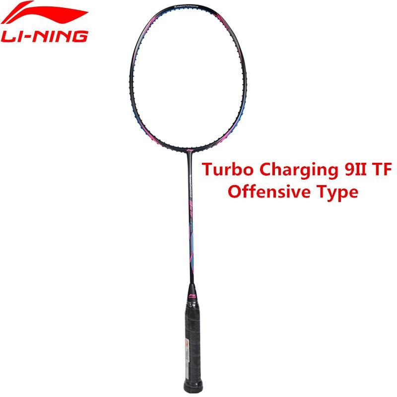 Véritable Li-Ning Turbo Charge 9II Professionnel Raquette De Badminton Li Ning Sport Offensive Raquette AYPM324 L848OLA