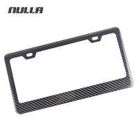 NULLA High Quality Universal Carbon Fiber Auto Car Exterior Front Rear License Plate Cover Frame Decoration