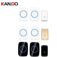 bell sets 2 receivers different colors wireless door bell set by 110-220V wireless doorbell ip44  300M door chime door ring