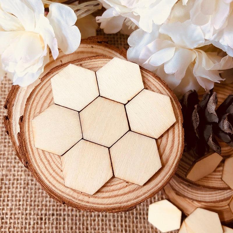 wood hexagon piece (1)