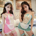 Tentação Sexy Ladies Lingeries Babydoll Lace Linda Floral Maids Lolita Maid Outfit Cosplay Erótico Intimates Nighties Deslizamentos