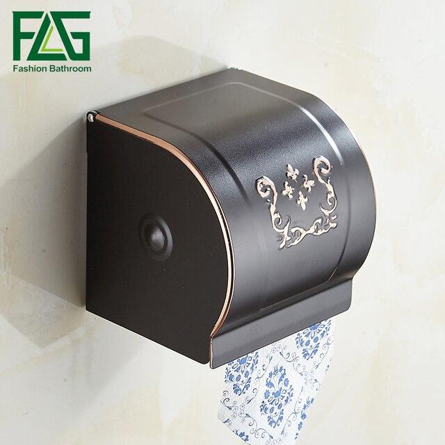 Flg Luxury Towel Rack Wall Mounted Bathroom Tissue Dispenser Box Tray Paper Holder