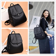 Women Daypack Fashion Bags Leisure Backpack Purse PU Leather Zipper Bags Casual Backpacks Shoulder Bags