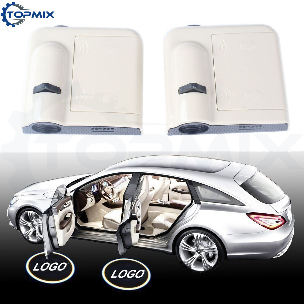 2x Wireless Car Door Logo Projector Welcome Ghost Shadow Light Car Styling Decorative Led Light Fit For Nissan
