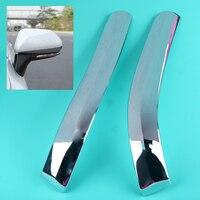 DWCX 1Pair ABS Chrome Car Outside Door Rearview Mirror Strip Cover Trim Bezel Fit For Toyota