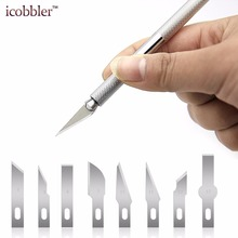 цены 25 Pcs/set Alloy Handle Carving Knife Rubber Phone Film Knifes Pen Sharpener Paper Cutting Wood Leather Tools Hand Model Knives