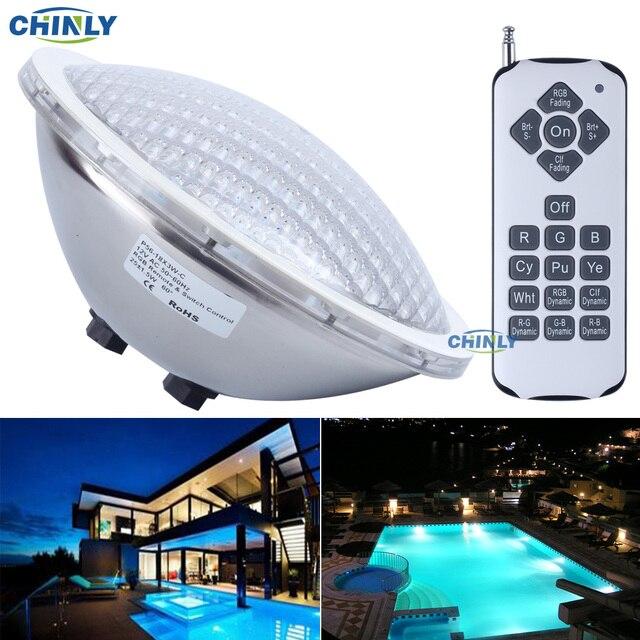 AC12V Par56 25 W RGB Remote Zwemmen LED Zwembad Verlichting Lamp ...