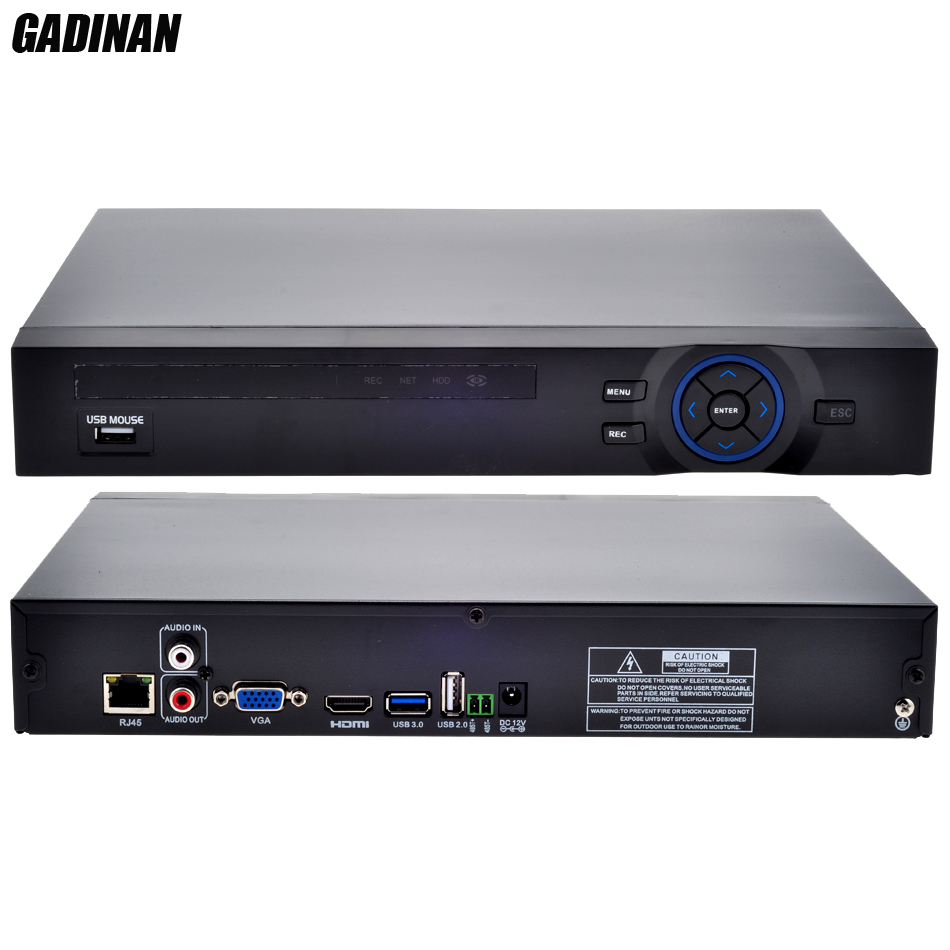 GADINAN FULL HD 16 Channel 1080P/16CH*960P/4CH*5MP NVR Support 2 SATA HDD XMEYE ONVIF P2P HDMI CCTV NVR Recorder Support 3G WIFI корпус для hdd orico 9528u3 2 3 5 ii iii hdd hd 20 usb3 0 5