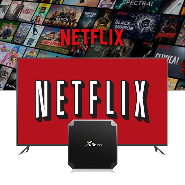 US $20 0 |X96 Mini Android 7 1 BOX with 1 year Netflix Normal account/1  year Spotify Premium work on all device set top box media player-in Set-top
