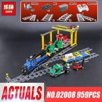 Lepin 02008 Genuine 959Pcs City Series The Cargo Train Set Building Blocks Bricks Educational Children Toys