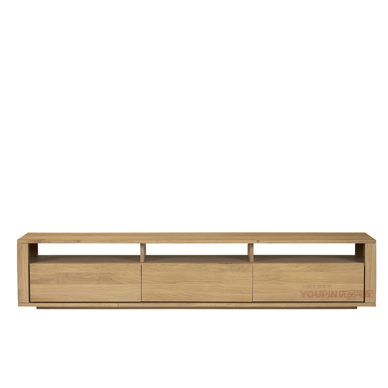 Small Furniture Factory Direct Thick Oak TV Cabinet