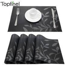 Набор из 4 салфеток ПВХ с цветочным узором для обеденного стола