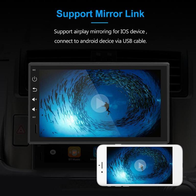 1 DIN Bluetooth voiture stéréo GPS Navigation 7 pouces TFT écran tactile Android 8.1 2 GB + 16 GB unité principale WiFi USB AM FM RDS Radio - 6