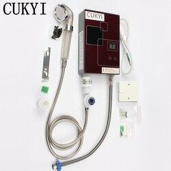 CUKYI, электрический водонагреватель, ультра тонкий, постоянная температура, водонагреватель, душ, ванна, бытовой, быстрый нагреватель, скорос...