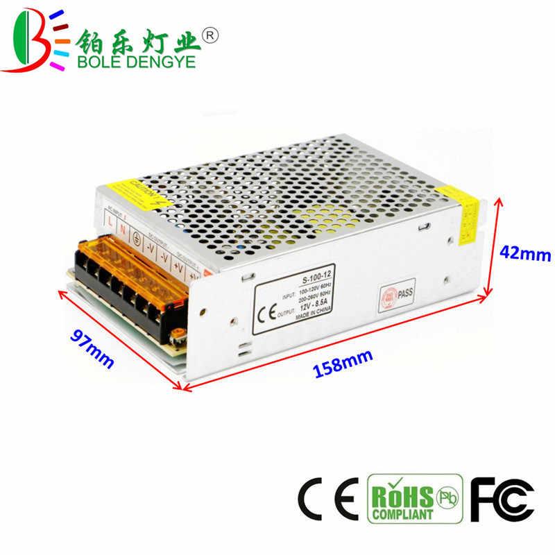 Dioda LED sygnalizująca zasilanie AC 100-265 V do DC 12 V LED zasilacz 1A 2A 3A 5A 8.5A 10A 15A 20A 30A 40A transformator oświetlenia do taśmy LED