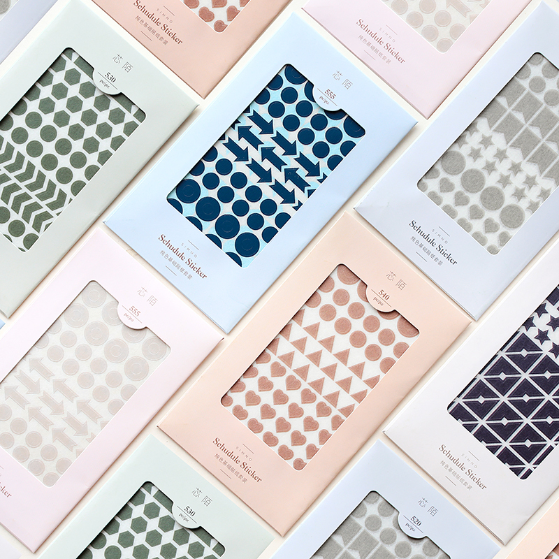 Fromthenon Solid Color Basic Diary Book Decorative Stickers Planner Label Sticker Bullet Journal Supplies School Stationery